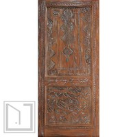African Style Hand Carved Mahogany Single Door