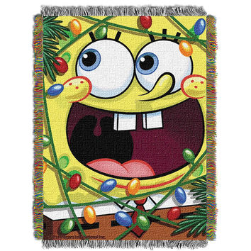 Spongebob Fa La La Bob  Woven Tapestry Throw (48inx60in)