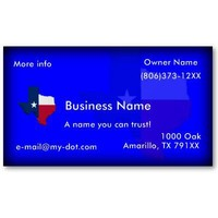 Texas Flag-Map (Dark Blue) Business Card Templates from Zazzle.com