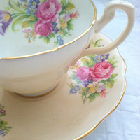 Vintage EB Foley Fine Bone China Tea Cup and Saucer Made in England Cottage Tea Party Wedding, Thank You or Housewarming Gift Inspiration