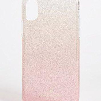Kate Spade New York Pink Glitter Ombre iPhone X Case, Pink Glitter, iPhone X