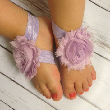 Baby Barefoot Sandals...Lavender Barefoot Sandals...Newborn Barefoot Sandals...Toddler Barefoot Sandals