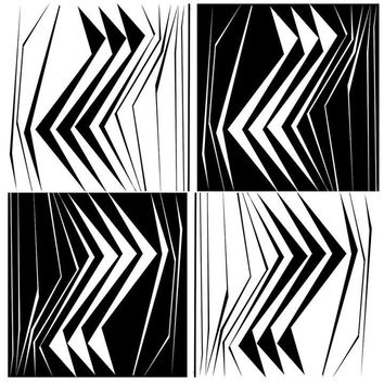 Graphic B&W Coaster - Set of 4