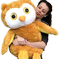 Large Stuffed Owl 26 Inches Tall Superior Quaity Very Soft Big Plush Animal O...