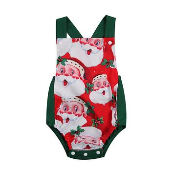 Baby Unisex Backless Romper Newborn Baby Boys Girls Xmas Rompers  New Arrival Fashion Jumpsuit Clothes