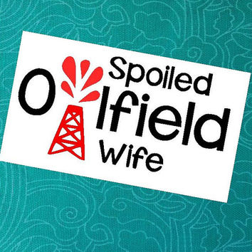 Oilfield Wife Decal | Car Decal | Occupational Decal | Oilfield Decal | Monogram Decal | Car Decal | Personalized Decal | Sticker