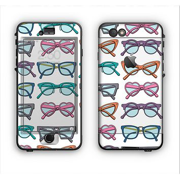 The Various Colorful Vector Glasses Apple iPhone 6 LifeProof Nuud Case Skin Set