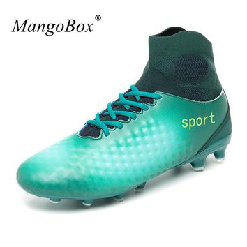 Sport Shoes Soccer Men Kids Original Football Boots Anti-slip Soccer Cleats With Sock High Ankle Football Boots for Men