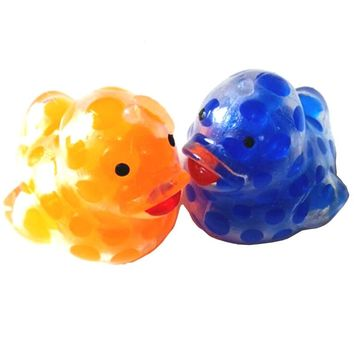 Color Random !!Anti Stress Reliever Duck Colorful beads Ball Autism Mood Squeeze Relief Toy Funny Children's toys