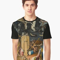 'Hieronymus Bosch - The Garden of Earthly Delights' Graphic T-Shirt by planetterra