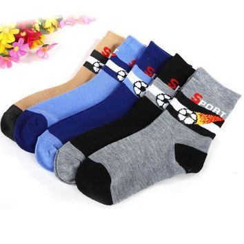 Boys Socks 5 pair /1 spring cotton Foot 1-9 year