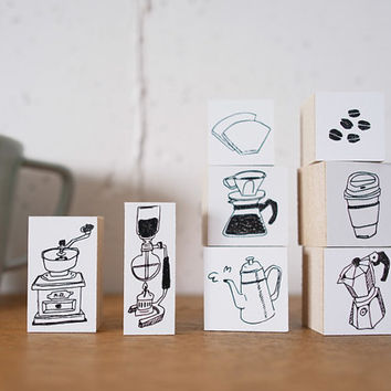 36 Sublo COFFEE rubber stamp series