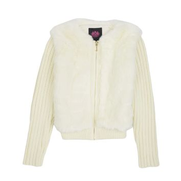 Girls Fur And Rib Sweater by Juicy Couture