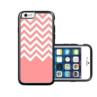 RCGrafix Brand Coral-White-Chevron iPhone 6 Case - Fits NEW Apple iPhone 6