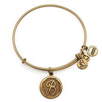 Alex and Ani Initial B Charm Bangle Bracelet - Rafaelian Gold Finish