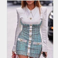 Women's clothing is a hit with the new sexy pocket blazer dress