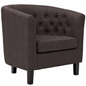 Prospect Upholstered Armchair, Brown