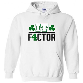 "Isaiah Thomas Boston Celtics ""IT Factor"" Hooded Sweatshirt ADULT SMALL"