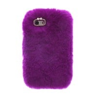 Cozy Fur iPhone Case Purple