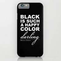 Black is such a happy color darling - Morticia Addams iPhone & iPod Case by Sara Eshak