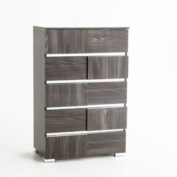 Modrest Picasso Italian Modern Grey Lacquer Chest