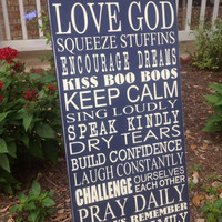 Family Rules - Custom Subway Art - House Rules- Mothers Day Gift - Inspirational Wall Art Sign