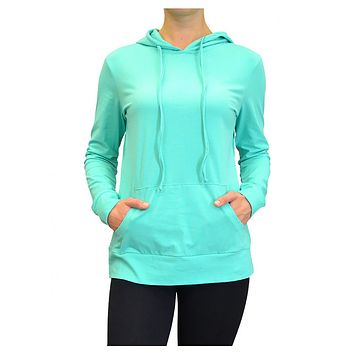 Casual Thin Cotton Pullover Hoodie Workout Sweater Top