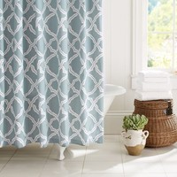 KENDRA TRELLIS SHOWER CURTAIN