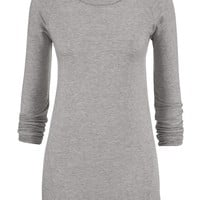 Lightweight Ultra Soft Tunic Pullover - Beige