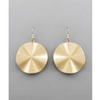 Wavy Disk Earrings