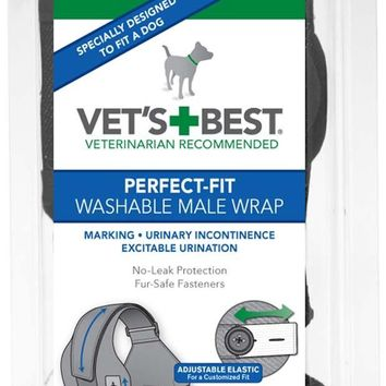 Vets Best Perfect-Fit Washable Male Wrap