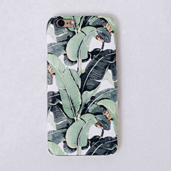 Original Banana Leaf iPhone se 5s 6 6s Plus Case Cover -0321