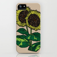 sunflowers iPhone Case by lush tart | Society6