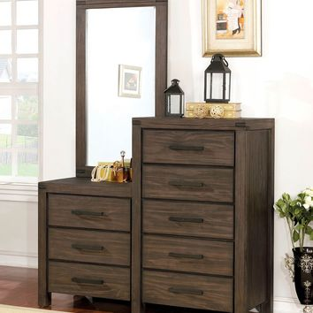 8 Drawer Wooden Dresser With Mirror In Brown