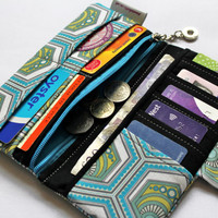 Custom made Bi-fold wallet, card holder, coin purse choose your fabric