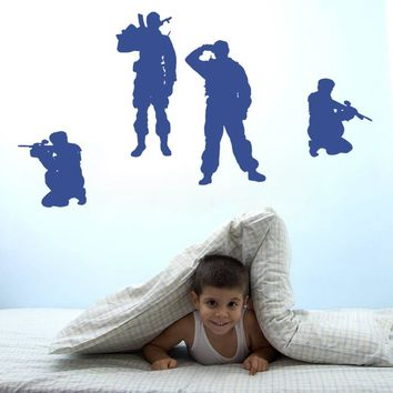 ik727 Wall Decal Sticker Army soldier military shooter sniper vest