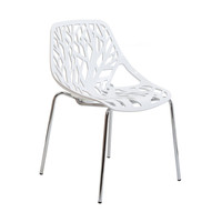 Tree of Life Side Chair in White