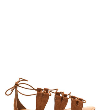 Tied 2Gether Faux Suede Sandals