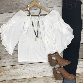 Natural Element Off the Shoulder Blouse