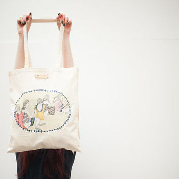 Best Friends Printed Tote Bag