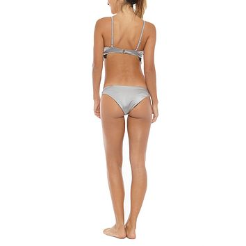 Jamie Everyday Low Rise Cheeky Bikini Bottom - Silver