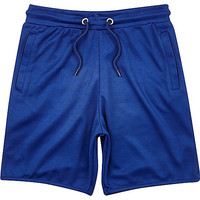 River Island Boys blue mesh jersey shorts