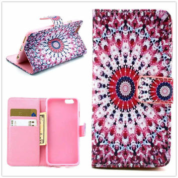 Ethnic Minorities Totem Print Leather creative case Cover Wallet for iPhone 6 / iPhone plus