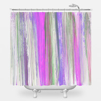 Lilac Brushstrokes Shower Curtain