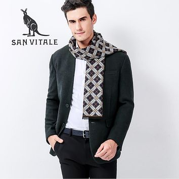 Scarves Men Scarf Christmas Clothes Poncho Fall 2017 Fashion Clothing Small Square Silk Accessories Apparel Winter Warm Cashmere