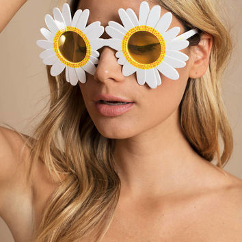 Sunnylife Kiss The Sunset Daisy Shaped Sunglasses