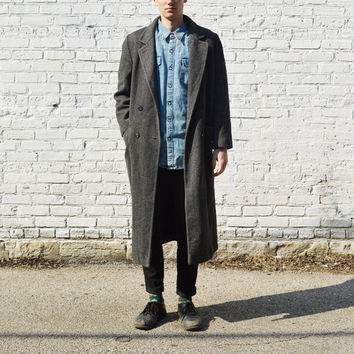 Gray Wool Trench Coat