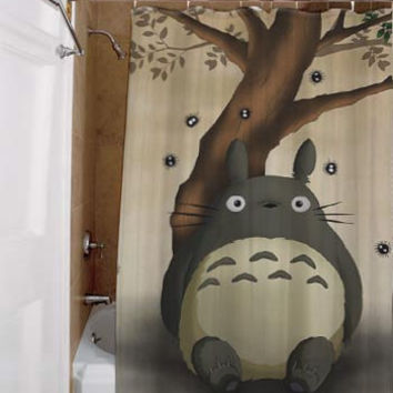 totoro, special custom, shower curtains, available size, amazing gift