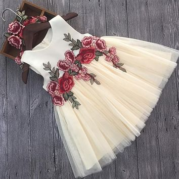 Luxury Lace Flower Girl Dresses Appliques Kids Prom Wedding Dress Ball Gown Pearls Girl Pageant Dress Vestidos de comunion