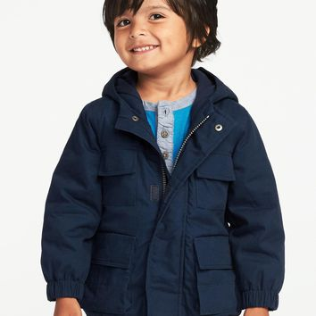 Hooded Canvas Utility Jacket for Toddler Boys|old-navy